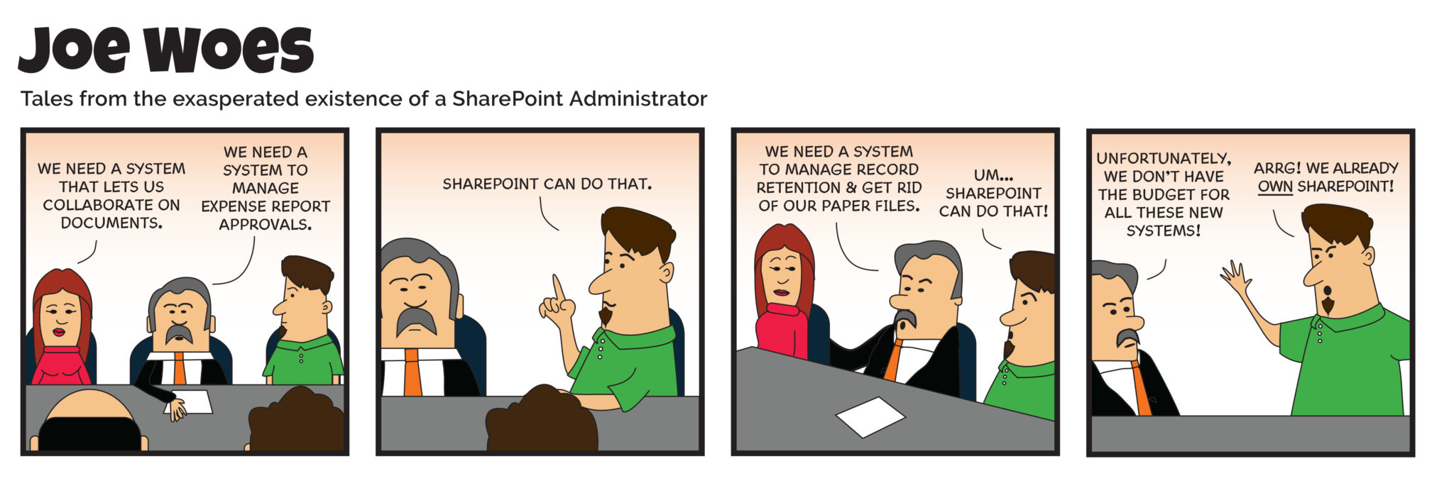 own SharePoint - joe-woes