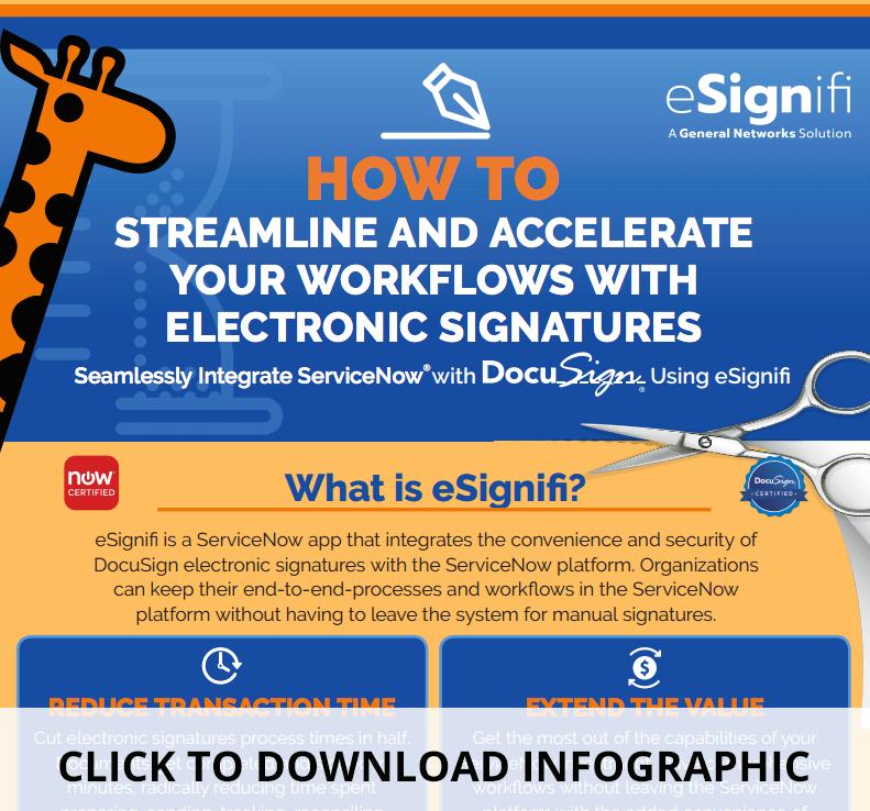 ServiceNow Workflows-eSignifi-infographic