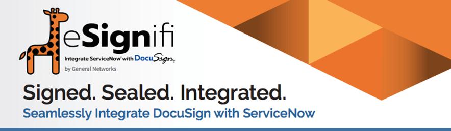 ServiceNow Workflows-esignifi header