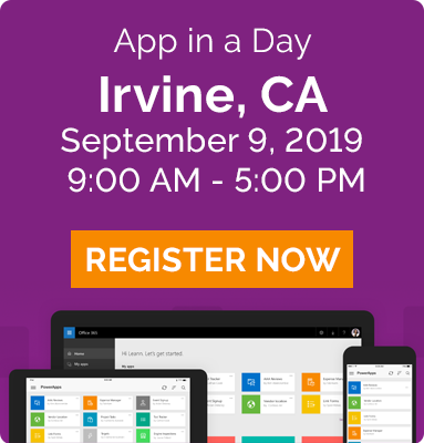 app in a day - irvine ca