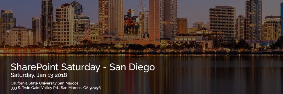 SharePoint Saturday san Diego