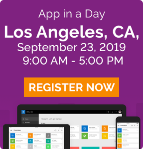 app in a day - los angeles ca